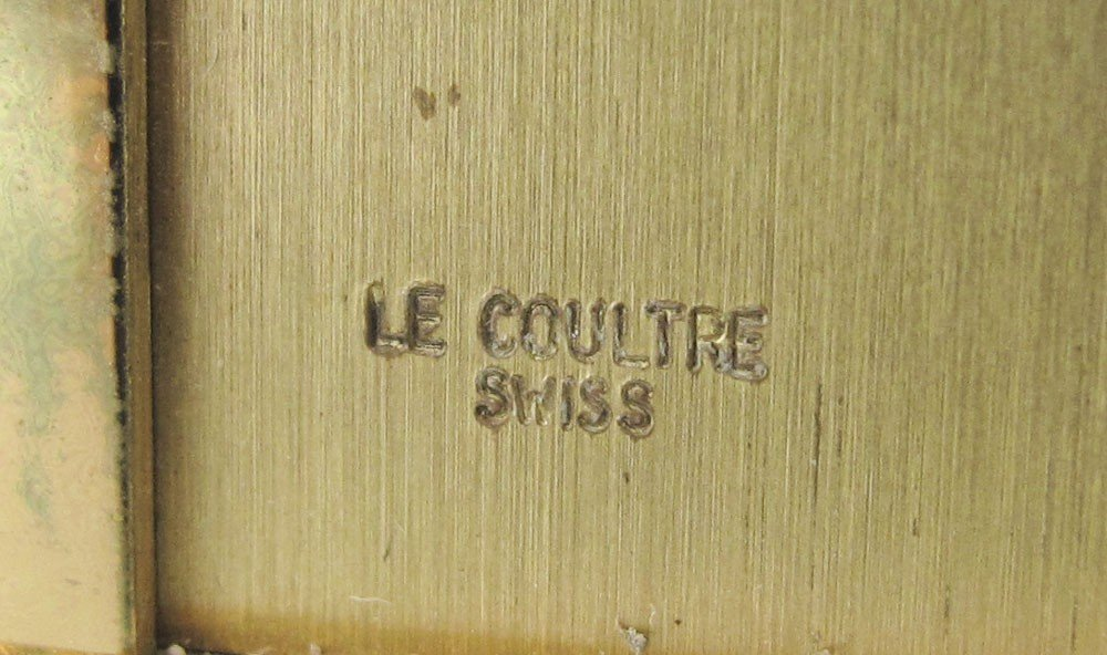 240A: LE COULTRE LAPIS LAZULI DESK CLOCK - 4
