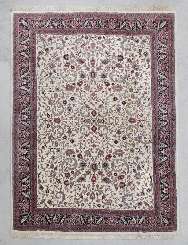 MODERN INDO PERSIAN HAND KNOTTED WOOL RUG apprx 8