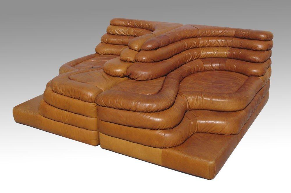 72 2 Ubald Klug Stendig Terrazza Leather Sofas