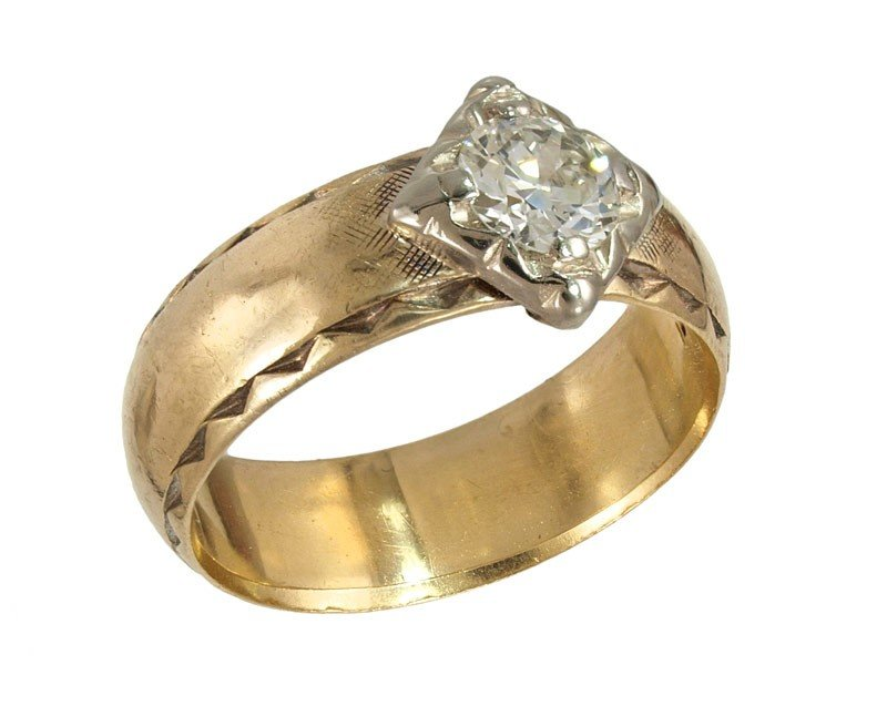 248: 14K GOLD .42 CT DIAMOND RING 4.8 GR SZ 5.5
