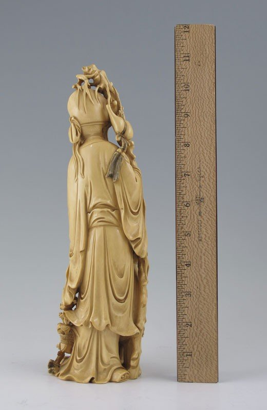 203: CARVED IVORY WISEMAN WITH CHILD - 3