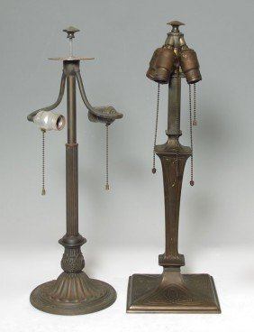 TWO VINTAGE LAMP BASES