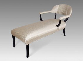 1950'S HOLLYWOOD REGENCY STYLE CHAISE LOUNGE