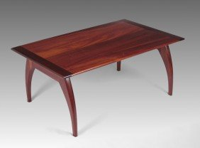 AMERICAN CRAFTSMAN MODERNIST MAHOGANY COFFEE TABLE