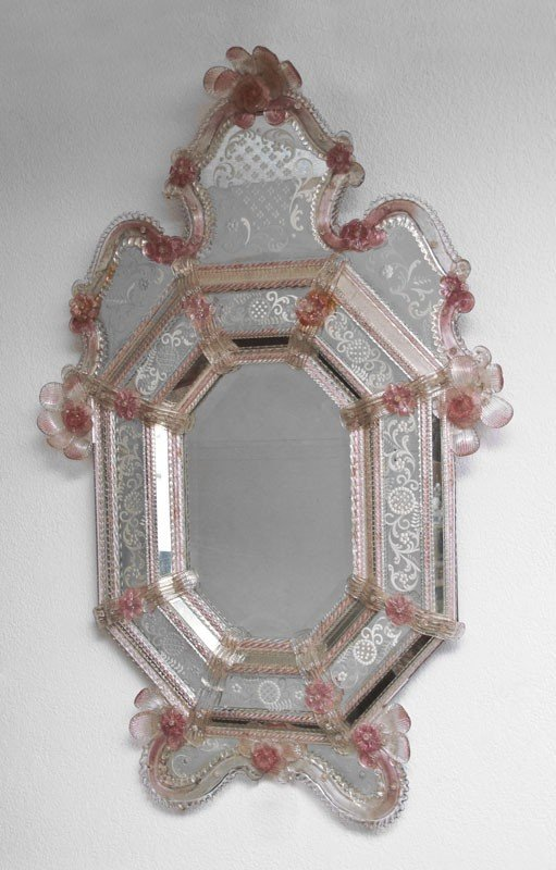 179: LARGE VENETIAN ETCHED GLASS MIRROR