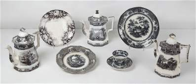 240: AN ASSEMBLED COLLECTION OF MULBERRY TRANSFER WARE