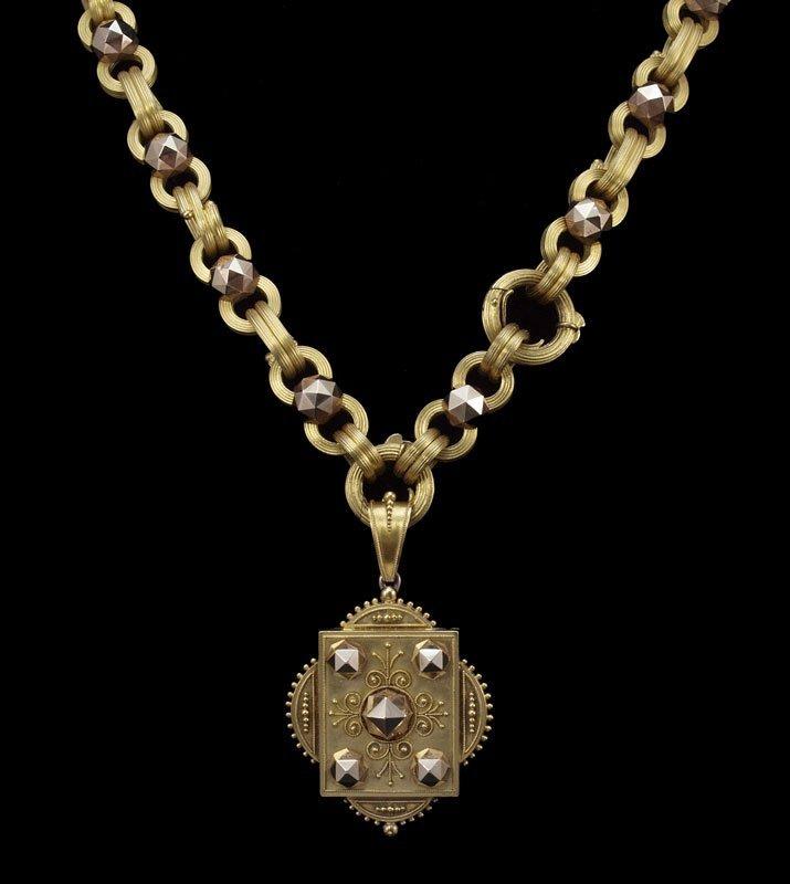 15: 14K GOLD VICTORIAN NECKLACE JE CALDWELL 56 GR