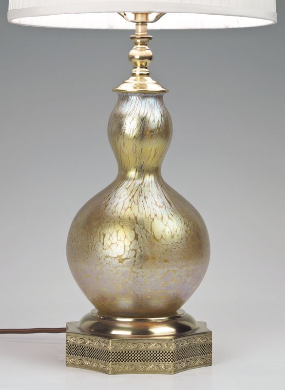 92: SIGNED LOETZ PAPILLON ART GLASS LAMP