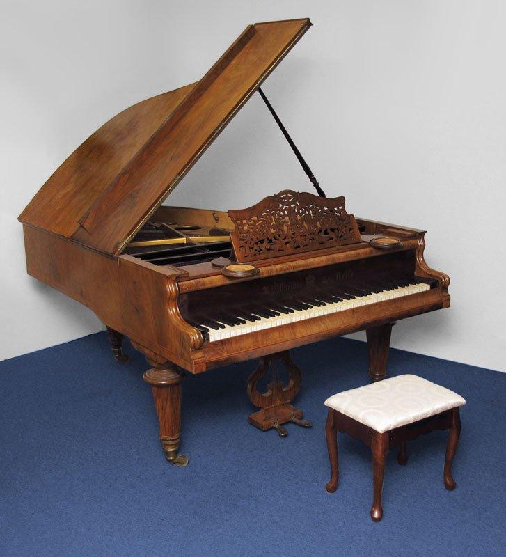 151: J. SCHNEIDER & NEFFE AUSTRIAN PARLOR GRAND PIANO