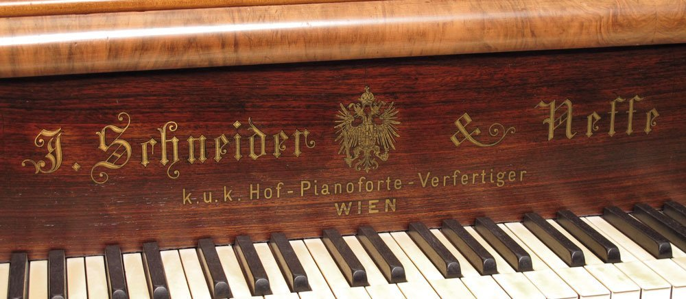 151: J. SCHNEIDER & NEFFE AUSTRIAN PARLOR GRAND PIANO - 3