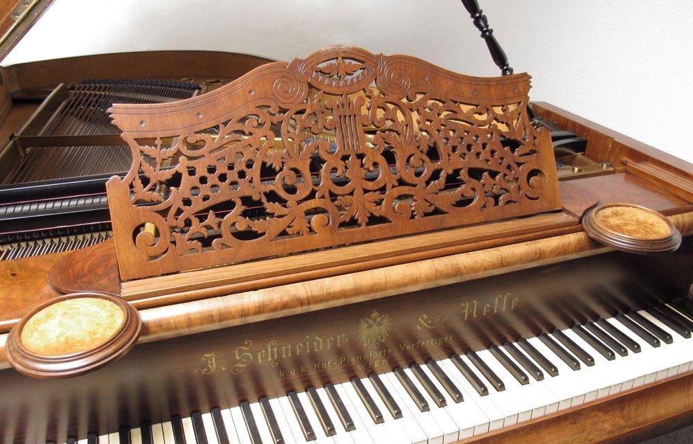 151: J. SCHNEIDER & NEFFE AUSTRIAN PARLOR GRAND PIANO - 4