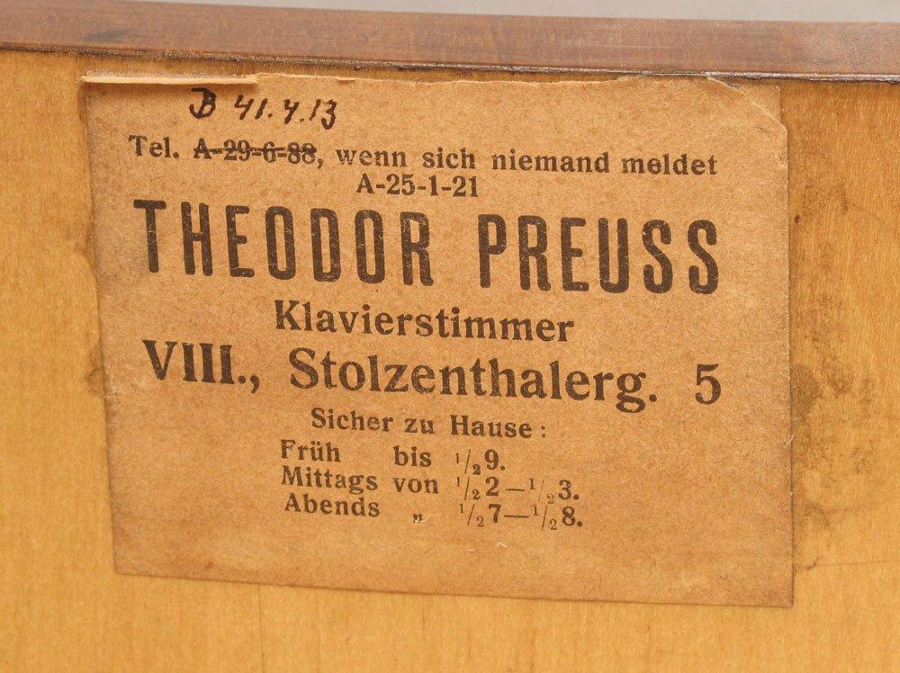 151: J. SCHNEIDER & NEFFE AUSTRIAN PARLOR GRAND PIANO - 8