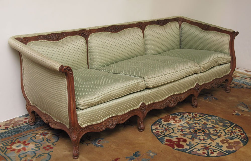156: 19TH CENTURY FRENCH CARVED SOFA