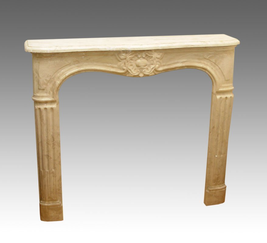 75: CARVED MARBLE FIREPLACE MANTLE SURROUND