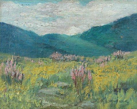 1008: IMPRESSIONIST WILD FLOWER LS O/C 1910