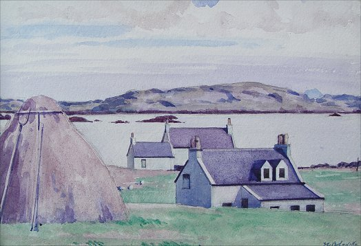 1016: FRANCIS CADELL W/C IONA COTTAGE