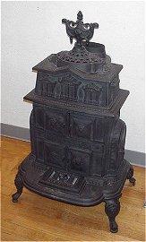1071: GRAYVILLE CAST IRON WOOD BURNING STOVE