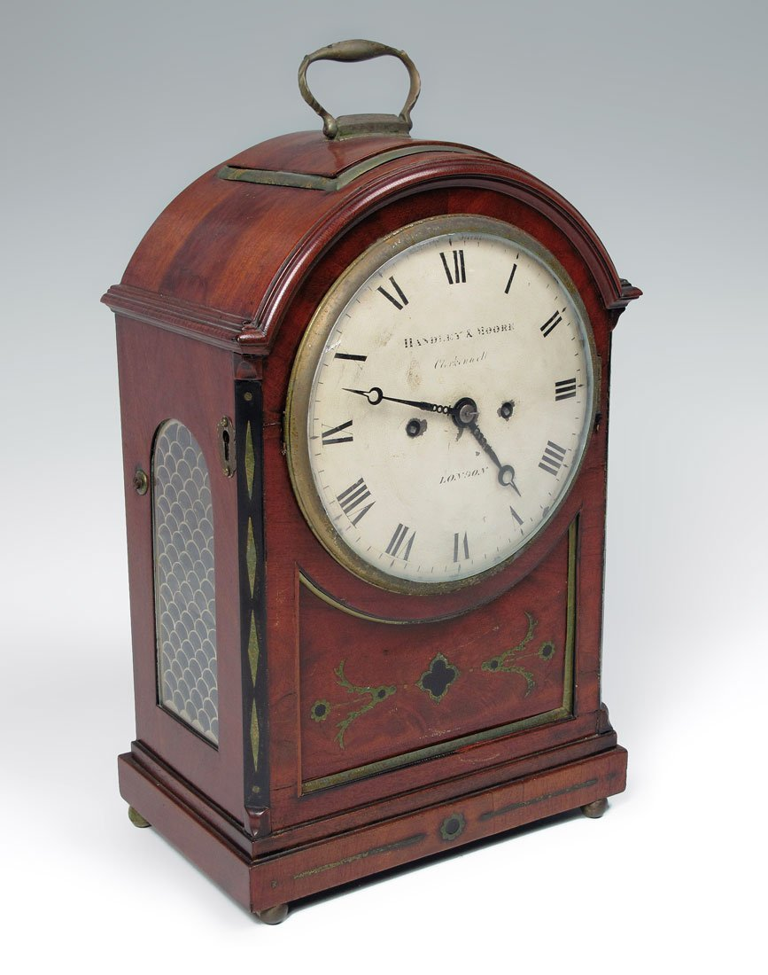 5: 19TH CENTURY HANDLEY AND MOORE BRACKET CLOCK