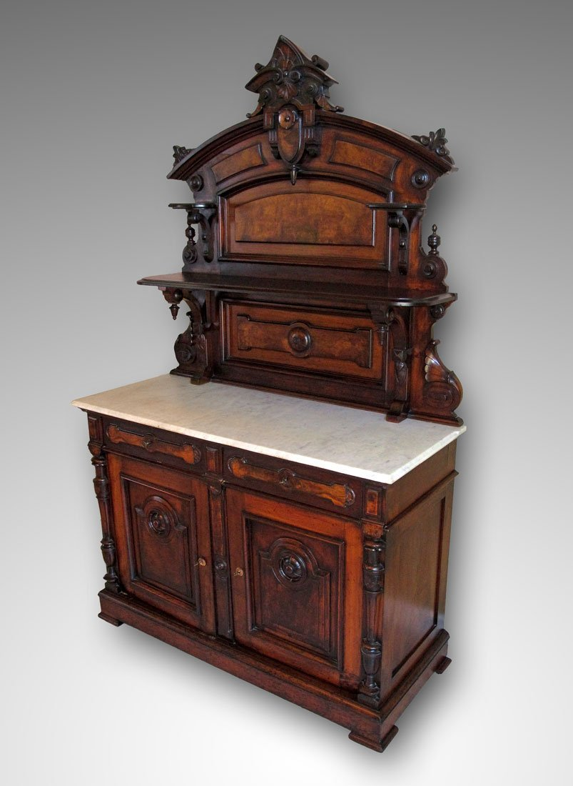 10: HIGH VICTORIAN MARBLE TOP SERVER
