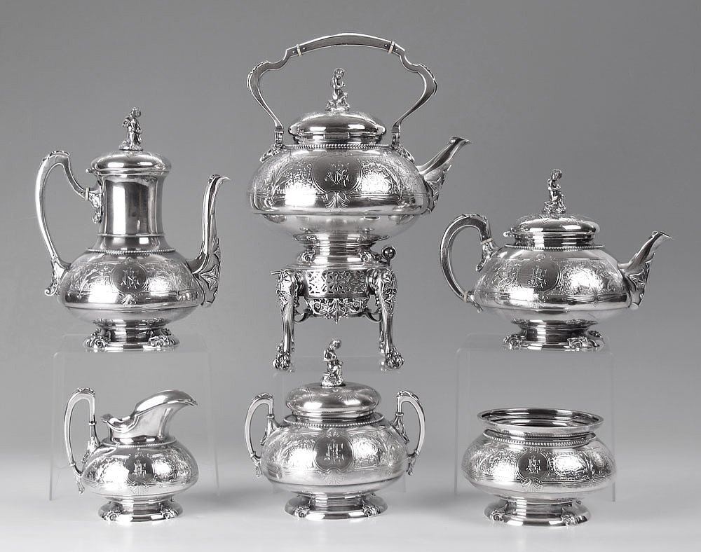 21: IMPORTANT TIFFANY & CO. STERLING TEA SERVICE