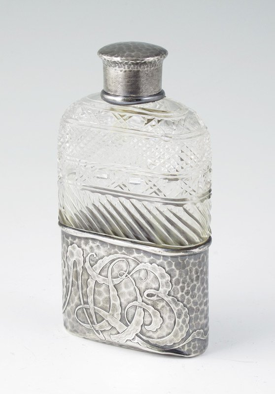 22: TIFFANY & CO. HAND HAMMERED STERLING FLASK