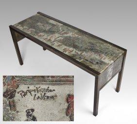 PHILIP & KELVIN LAVERNE ORIENTAL CONSOLE TABLE
