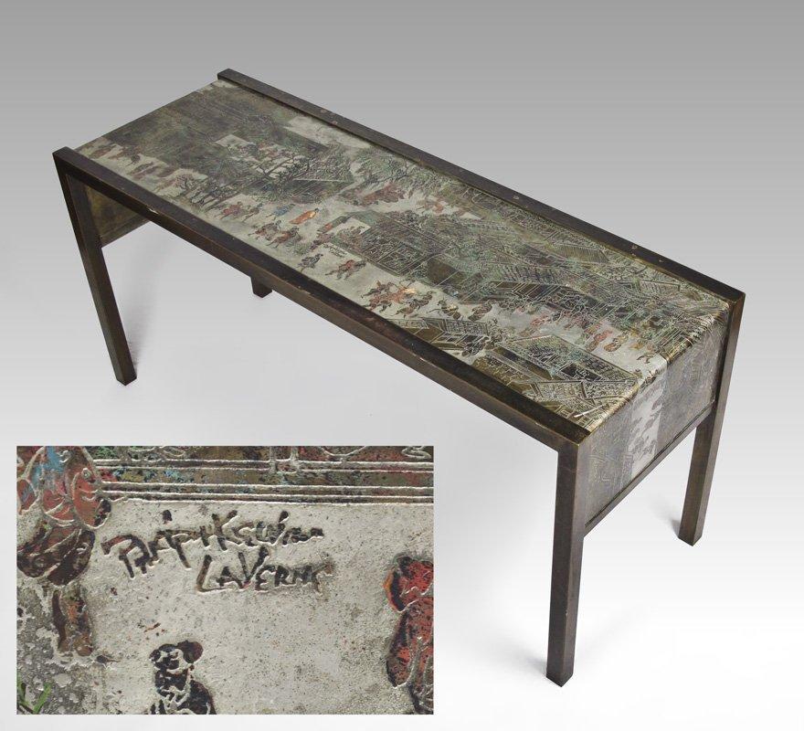31: PHILIP & KELVIN LAVERNE ORIENTAL CONSOLE TABLE