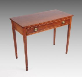 EARLY HEPPLEWHITE STYLE STRING INLAID WRITING DESK