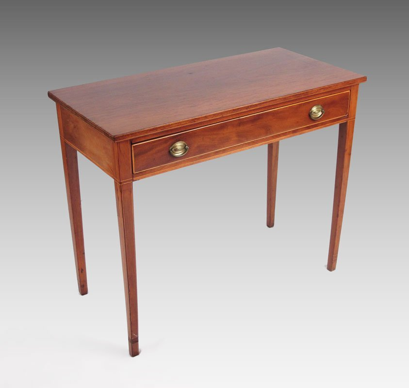27A: EARLY HEPPLEWHITE STYLE STRING INLAID WRITING DESK
