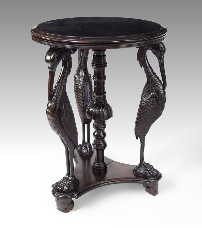 9: EBONIZED AESTHETIC MOVEMENT FIGURAL TABLE