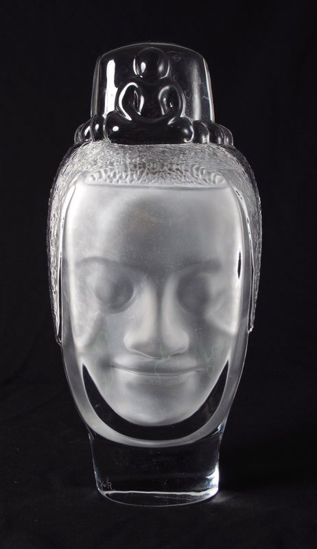 58: DAUM CRYSTAL HEAD OF BUDDHA BOUDDHA