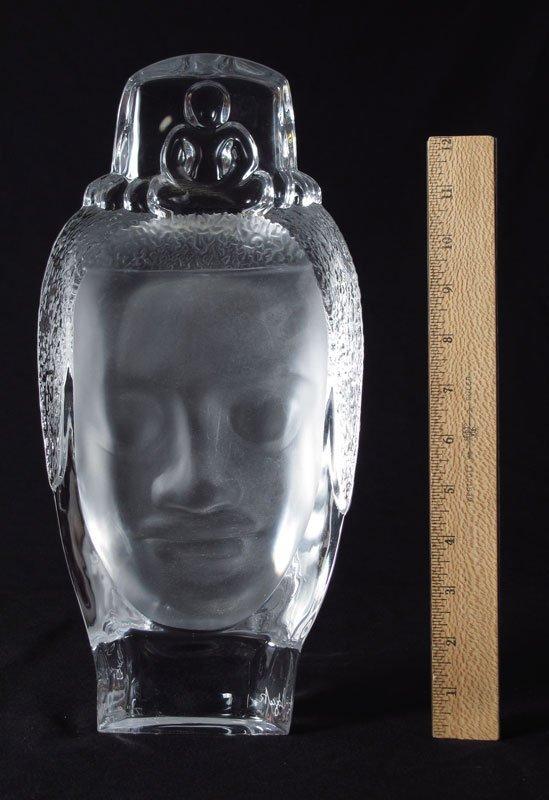 58: DAUM CRYSTAL HEAD OF BUDDHA BOUDDHA - 2