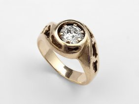 2: AN ESTATE 1.00 CT. DIAMOND SOLITAIRE RING