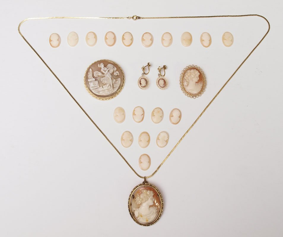 322: CARVED SHELL CAMEO COLLECTION