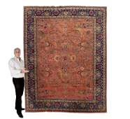 249 SEMIANTIQUE PERSIAN HAND KNOTTED WOOL RUG 8 x 11