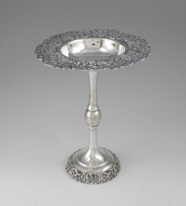 22: GORHAM RETICULATED STERLING COMPOTE