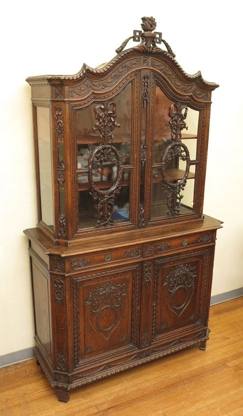5: PROFUSELY CARVED CONTINENTAL CUPBOARD