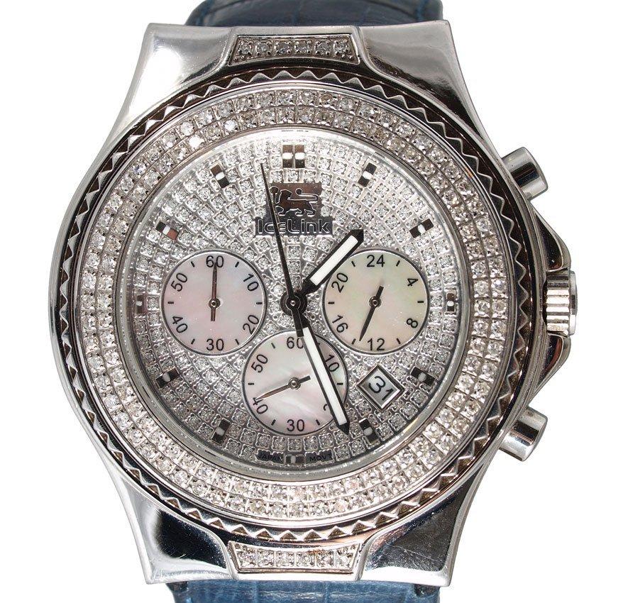 112: ICELINK MARVEL DIAMOND CHRONOGRAPH WRISTWATCH