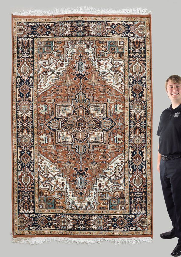 """MODERN INDO-PERSIAN HAND KNOTTED WOOL RUG, 5' 8"""" x"""
