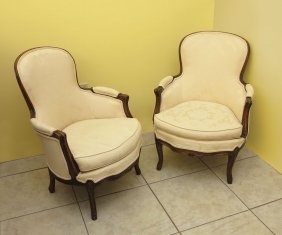 PAIR FRENCH VICTORIAN CHAIRS
