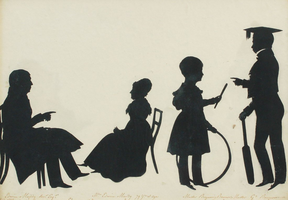 85: 19th C SILHOUETTE GROUP
