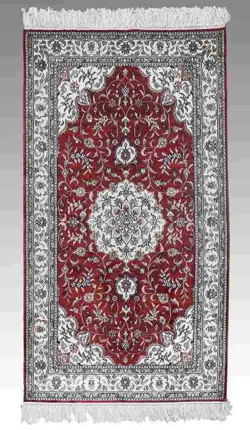 MODERN INDO-PERSIAN HAND KNOTTED WOOL RUG 3' x 5'