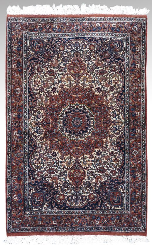 83A: MODERN INDO-PERSIAN HAND KNOTTED WOOL RUG 4