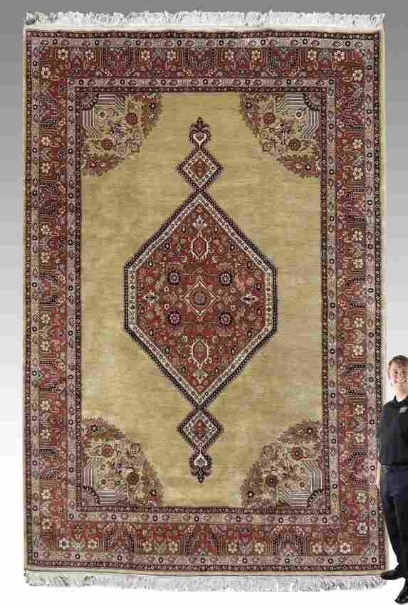 93A: MODERN INDO-PERSIAN HAND KNOTTED WOOL RUG 8'x12'