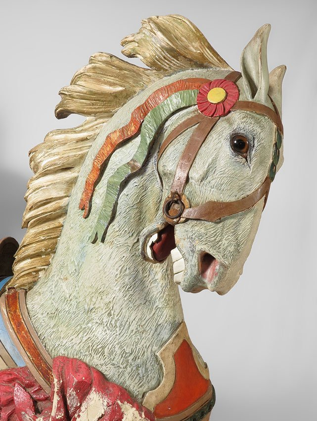 6: MAGNIFICENT CONEY ISLAND CARVED CAROUSEL HORSE