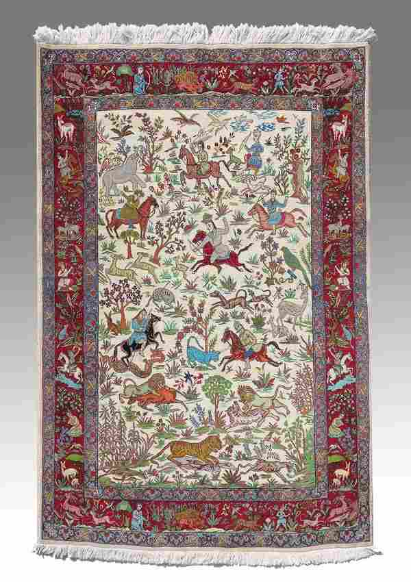 """MODERN PERSIAN HAND KNOTTED WOOL RUG 6'10"""" x 4'11"""""""