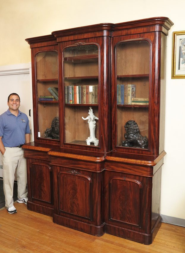 10: MID 19TH CENTURY TRIPLE BOOKCASE CABINET
