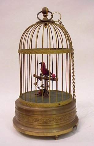 GERMAN SINGING BIRD AUTOMATON
