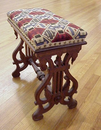 6A: VICTORIAN NEEDLEPOINT BENCH