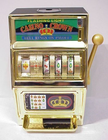 177B: CASINO CROWN TABLE TOP SLOT MACHINE BOX